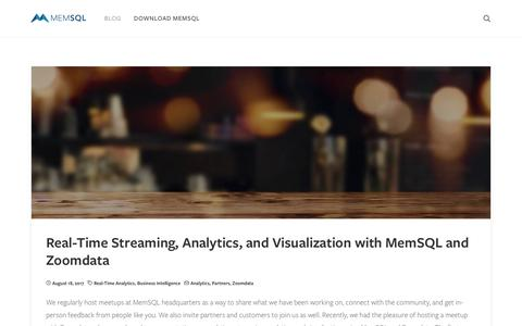 MemSQL Blog – This is Real Time