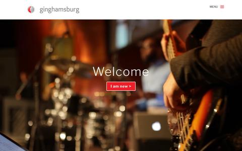 Screenshot of Home Page ginghamsburg.org - Ginghamsburg Church | Ginghamsburg Methodist Church, Dayton Ohio - captured Sept. 28, 2018