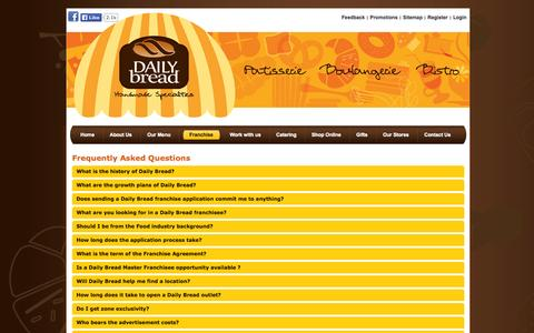 Screenshot of FAQ Page dailybread.co.in - Frequently Asked Questions   Daily Bread - captured Oct. 5, 2014
