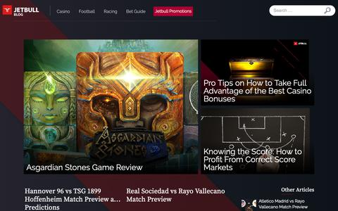 Screenshot of Blog jetbull.com - UK Online Casino and Sports News | Jetbull Blog - captured Oct. 1, 2018