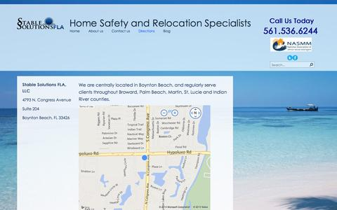 Screenshot of Maps & Directions Page stablesolutionsfla.com - Directions - captured Oct. 6, 2014