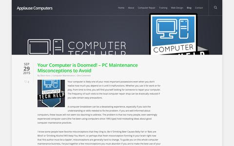 Screenshot of Blog applausecomputers.com - Blog | Applause Computers - captured Oct. 8, 2017