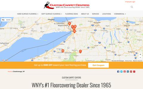 Screenshot of Locations Page customcarpetcenters.com - Locations | Custom Carpet Centers - captured July 22, 2018