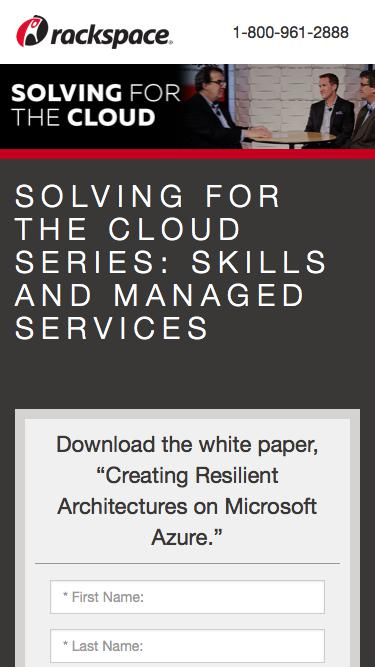 SOLVING FOR THE CLOUD: SKILLS AND MANAGED SERVICES