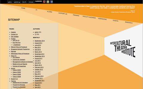 Screenshot of Site Map Page iti.edu.sg - Sitemap - captured Oct. 6, 2014