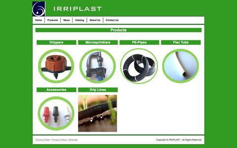 Screenshot of Products Page irriplast.com - Products - captured Nov. 18, 2016