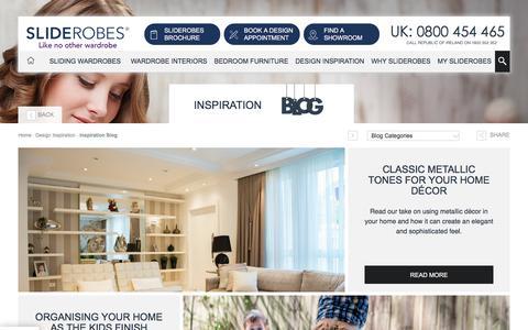 Screenshot of Blog sliderobes.co.uk - Inspiration blog - captured July 8, 2018