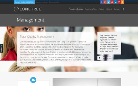 Screenshot of Team Page lonetreeusa.com - Management | Lone Tree USA - captured July 23, 2018