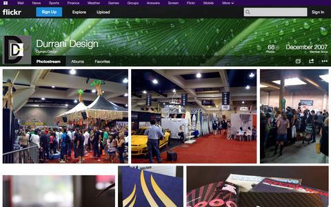 Screenshot of Flickr Page flickr.com - Flickr: Durrani Design's Photostream - captured Oct. 23, 2014