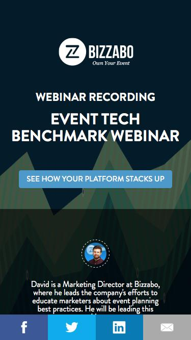 Event Tech Benchmark Webinar | Bizzabo