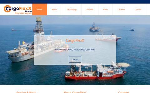 Screenshot of Home Page cargoflexx.com - Home | CargoFlexX Group - captured July 16, 2018