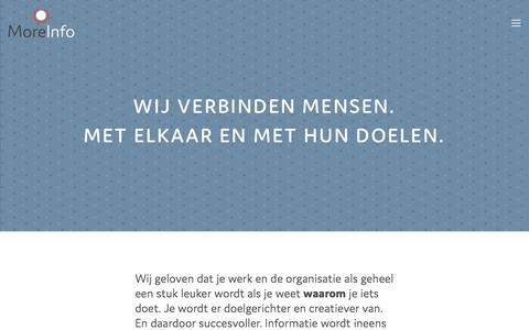 Screenshot of Home Page moreinfo.nl - MoreInfo - captured June 13, 2017