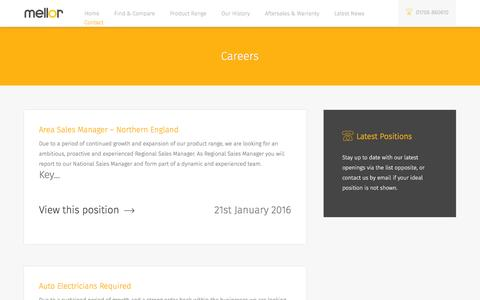 Screenshot of Jobs Page mellor-coachcraft.co.uk - Careers Archive | Mellor Coachcraft - captured Feb. 7, 2016