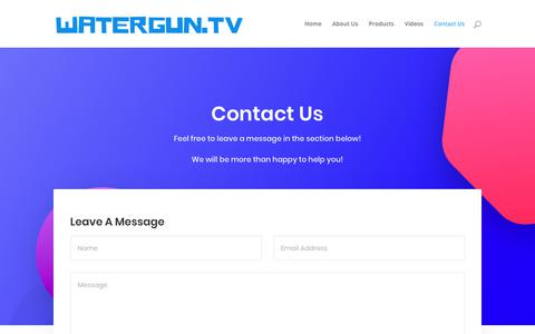 Screenshot of Contact Page watergun.tv - Contact Us - Watergun.tv - captured Oct. 20, 2018