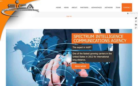 Screenshot of Home Page spectrumica.com - Spectrum Intelligence Communications Agency - captured Oct. 7, 2014