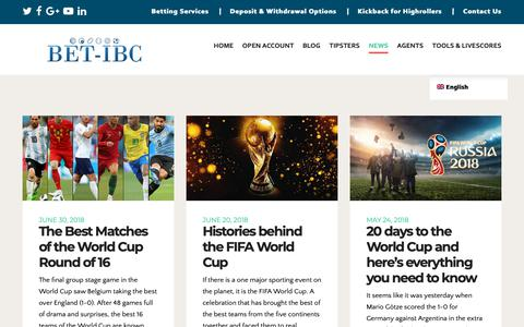 Screenshot of Press Page bet-ibc.com - Be updated with last sports betting news via BET-IBC! - captured March 11, 2019