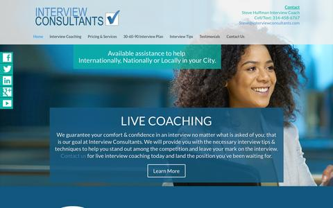 Screenshot of Home Page interviewconsultants.com - Home | Interview Consultants - captured Jan. 27, 2017