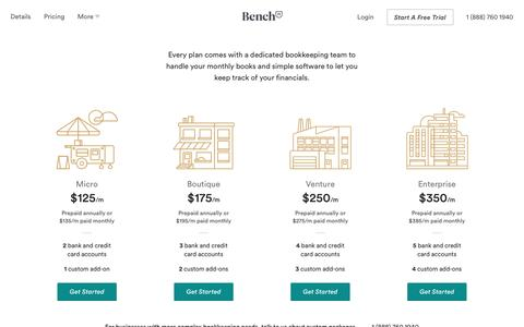 Bench — Pricing