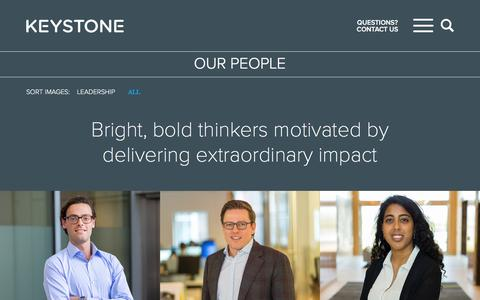 Screenshot of Team Page keystonestrategy.com - OUR PEOPLE - Keystone Strategy - captured Sept. 20, 2018
