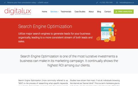 NJ Search Engine Optimization Company | Digitalux