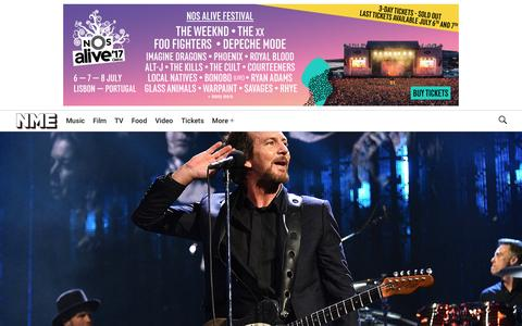 Screenshot of Home Page nme.com - NME Music News, Reviews, Videos, Galleries, Tickets and Blogs | NME.COM - captured April 8, 2017