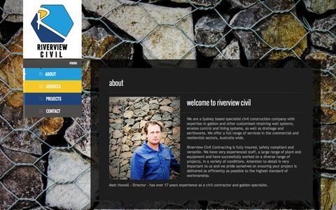 Screenshot of About Page riverviewcivil.com.au - Riverview Civil | About - captured Oct. 9, 2014