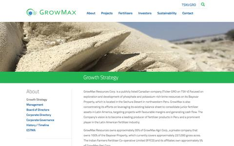 Screenshot of About Page growmaxcorp.com - Growth Strategy | GrowMax Resources Corp - captured July 6, 2018