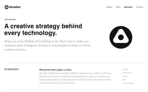 Screenshot of Services Page illcreative.com - illcreative - captured July 7, 2017