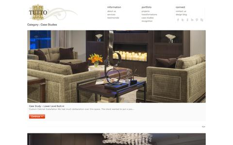 Screenshot of Case Studies Page tuttointeriors.com - Case Studies | Tutto Interior Design Michigan - captured Oct. 29, 2014