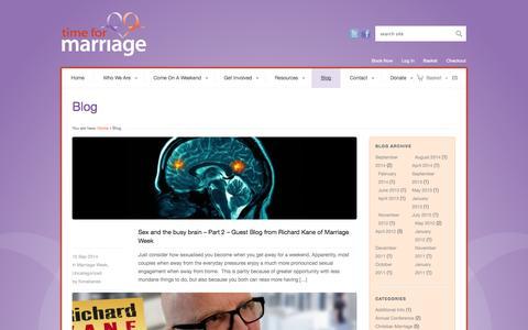 Screenshot of Blog timeformarriage.org.uk - Time for Marriage | Blog - Time for Marriage - captured Oct. 26, 2014