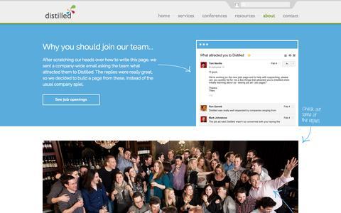 Screenshot of Jobs Page distilled.net - Join Our Team   Distilled - captured Nov. 18, 2015