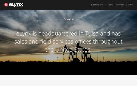 Screenshot of Locations Page elynxtech.com - Locations - eLynx Technologies : eLynx Technologies - captured Sept. 19, 2017