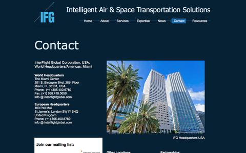 Screenshot of Contact Page interflightglobal.com - Contact - captured Oct. 15, 2017
