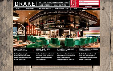 Screenshot of Home Page thedrake.ca - The Drake - captured Jan. 30, 2015