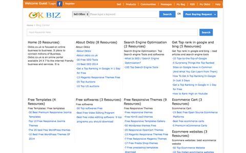 Screenshot of Blog okbiz.co.uk - Manufacturer, Supplier, Exporter, importer, distributor's Channel - captured Oct. 26, 2014