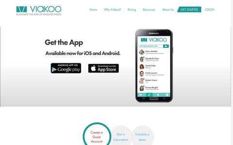 Screenshot of Trial Page viakoo.com - Start Now - Viakoo, IncViakoo, Inc - captured Oct. 7, 2014