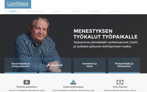Screenshot of Home Page leijonaksi.fi - LionSteps - captured Jan. 23, 2015
