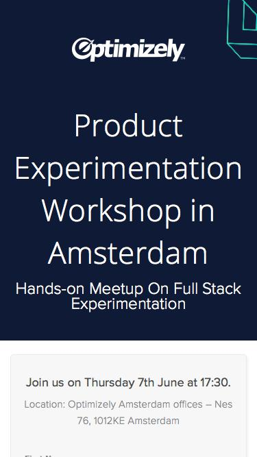 Product Experimentation Workshop in Amsterdam