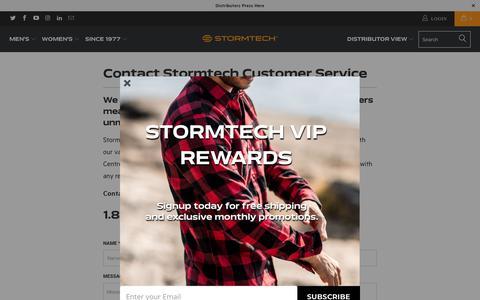 Screenshot of Support Page stormtech.ca - Contact Stormtech Customer Service - Stormtech Canada Retail - captured Sept. 23, 2018