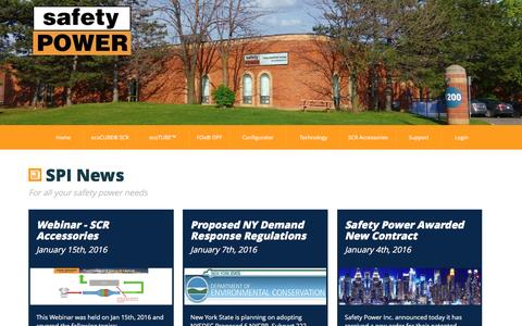 Screenshot of Press Page safetypower.ca - SafetyPower - captured Sept. 28, 2016