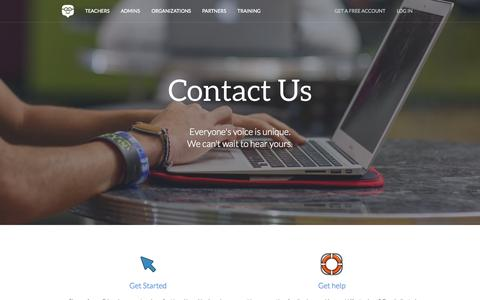 Screenshot of Contact Page edmodo.com - Edmodo | Connecting learners with the people and resources needed to reach their full potential | Where education meets innovation - captured Oct. 25, 2015