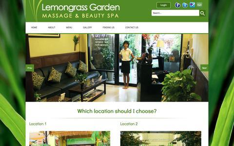 Screenshot of Locations Page lemongrassgarden.com - Locations Info | Lemongrass Garden - captured March 14, 2016
