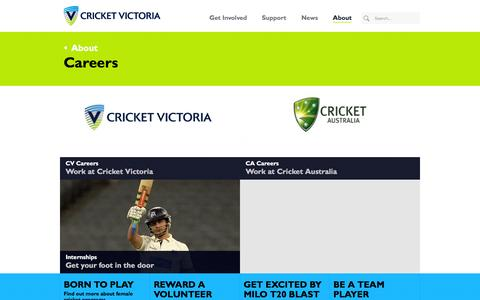 Screenshot of Jobs Page cricketvictoria.com.au - Careers - Cricket Victoria - captured Dec. 13, 2015