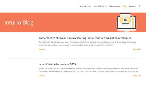 Screenshot of Blog intuiko.com - Intuiko, nos actualitŽs   Intuiko - captured Jan. 9, 2016