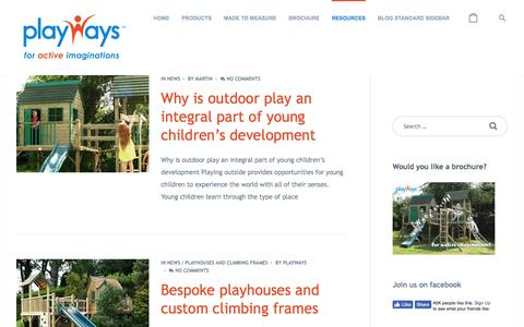 Screenshot of Press Page playways.co.uk - The latest news from Playways - Playways - captured May 19, 2017