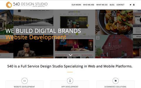 Screenshot of Home Page 540designstudio.com - Website Design Greenwich CT | 540 Design Studio | Westchester NY | Stamford CT - captured Jan. 13, 2016