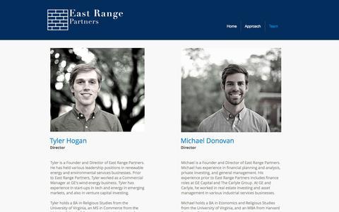 Screenshot of Team Page eastrangepartners.com - East Range Partners | Team - captured July 13, 2017