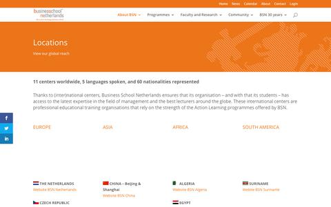 Screenshot of Locations Page bsn.eu - Worldwide Locations | Business School Netherlands (BSN) - captured May 14, 2019