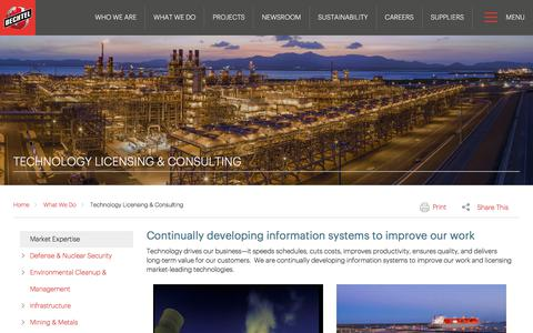 Technology Licensing & Consulting Services - Bechtel