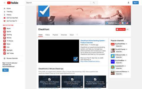Checkfront  - YouTube